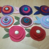 Monique's Fun Accessories | Pick Your Felt Flower Barrette | Online Store Powered by Storenvy
