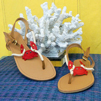 Get Crabby Flat Sandals -  $20.00 | Daily Chic Shoes | International Shipping