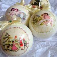 Angels And Christmas Tree Baubles