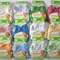 Bumgenius Elemental Organic 6 Pack of Cloth Diapers All in One Assorted Colors