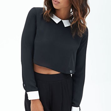 Collared Woven Top