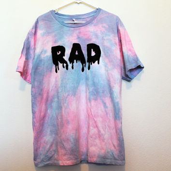 Extra Large tie dye pink blue RAD shirt