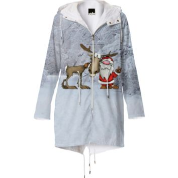 Santa and Reindeer Raincoat created by ErikaKaisersot | Print All Over Me