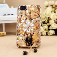 Gullei Trustmart : Artificial Swarovski shiny crystals floral iphone ipod touch case [GTMIPC0123] - $44.00 - Couple Gifts, Cool USB Drives, Stylish iPad/iPod/iPhone Cases & Home Decor Ideas