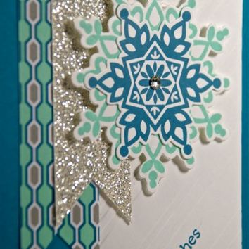 Icy Cool Snowflakes Featured Handmade Christmas Or Winter Holiday Card
