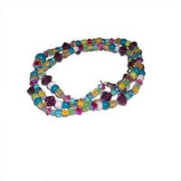 Glass and Swarovski Crystal Multi Colored Necklace