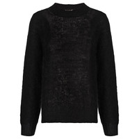 Buy Whistles Corinne Mohair Knitted Jumper, Black | John Lewis