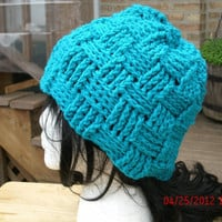 Handmade Hand Crochet Hat - The Basketcase -- Immediate Shipping