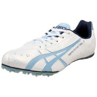 ASICS Women`s Hyper-Rocketgirl SP 3 Track &amp; Field Shoe,White/Sky Blue/Navy,11 B US