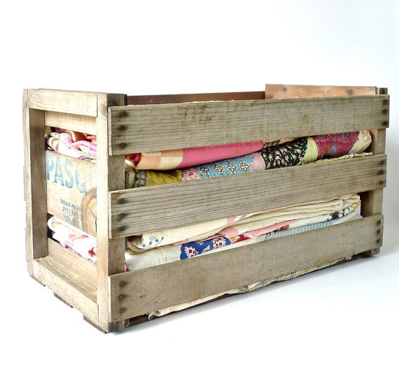 Vintage Slatted Wood Melon Crate