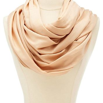 SOLID WOVEN PASHMINA INFINITY SCARF