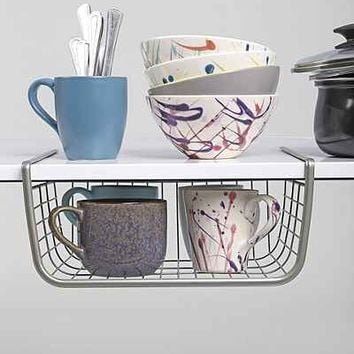 Over-The-Shelf Storage Basket - Urban Outfitters