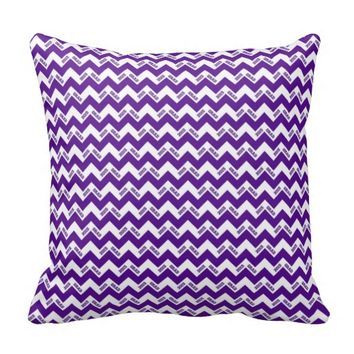 2015 Grad Chevron Pillow, Blue-White