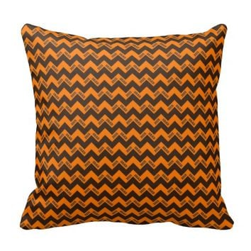 2015 Grad Chevron Pillow, Orange-Brown