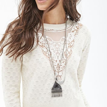 Cropped Crochet Sweater