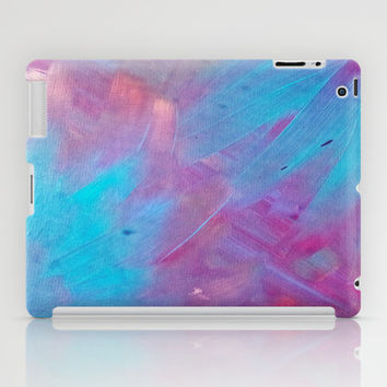 Blue Bloom Abstract iPad Case by DuckyB (Brandi)