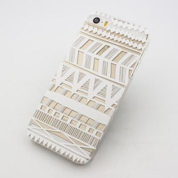 Clear Plastic Case Cover for Apple iPhone 5/5S, 5C, 6, 6Plus 6+ - Henna Itzli Mayan Aztec tribal native american indian ethnic