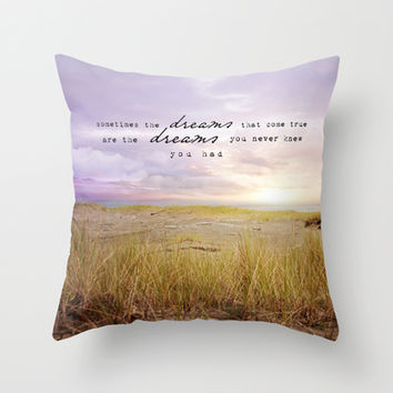 sometimes the dreams Throw Pillow by Sylvia Cook Photography