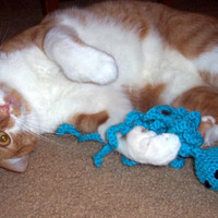 Catnip filled octopus cat toy