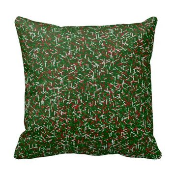 Candy Sprinkles with Polka dots Throw Pillow,Green