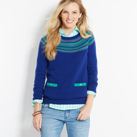 Shop Sweaters: Fair Isle Sweater for Women | Vineyard Vines