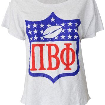 Pi Beta Phi NFL Flowy Tee - Adam Block Design