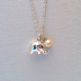 Lucky Elephant Sterling Silver Necklace with Freshwater Pearl Drop