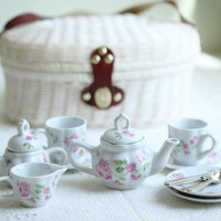pink roses play picnic tea set at ShopRuche.com