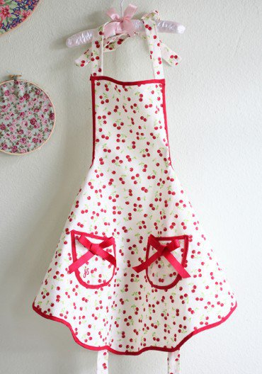 children's cherry apron at ShopRuche.com