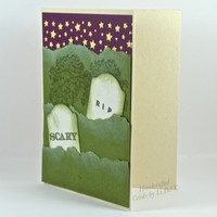 Spooky Cemetery Handcrafted Halloween Card With Tombstones