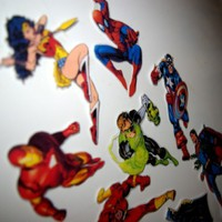 Superhero magnet set