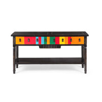 Multicolored Console Table
