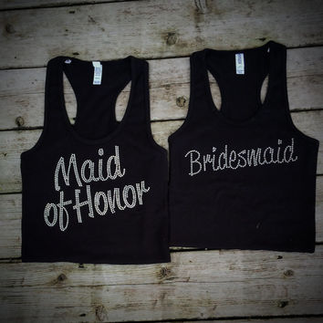 Bridal Party Rhinestone Tank Tops - Custom Bling Options Available!