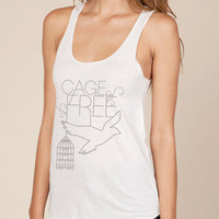 Cage Free Eco Racerback Tank Top in Ivory