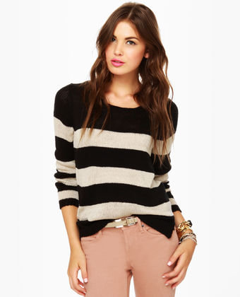 Olive & Oak Sweater - Striped Sweater - $62.00