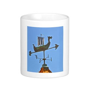 """Viking Ship Weather Vane"" Photograph Mug"