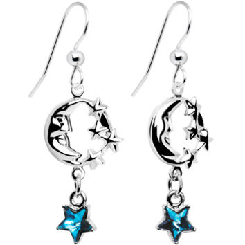 Handcrafted Celestial Star Moon Earrings MADE WITH SWAROVSKI ELEMENTS | Body Candy Body Jewelry