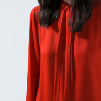 Bowed blouse