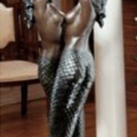 Art Deco Lamp | The Entwined Mermaids Floor Lamp