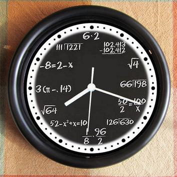 MATH GEEK STUDENT Good Fortune Feng Shui 10 inch Resin Wall Clock Under 25.00   Custom Clocks too- any subject- Contact Me Geekery