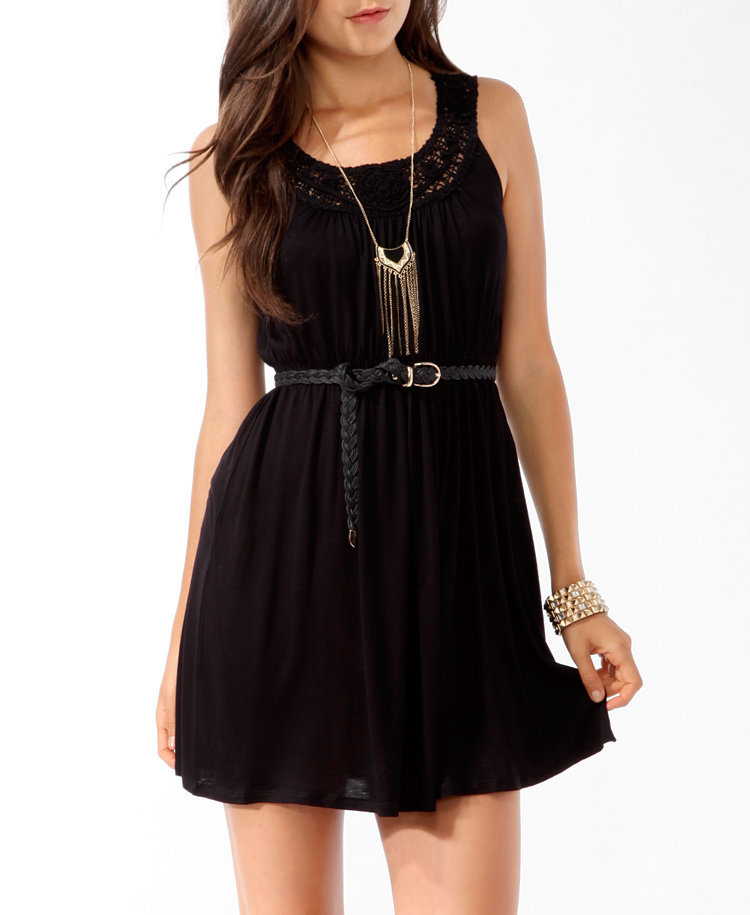 Sleeveless Rosette Dress
