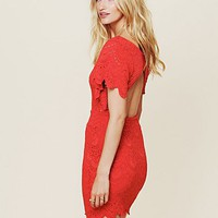 Free People Flutter Spanish Lace Dress