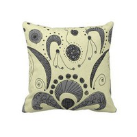 Wired Flower Throw Pillow from Zazzle.com