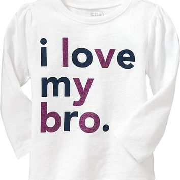 """I Love My Bro"" Tees for Baby"