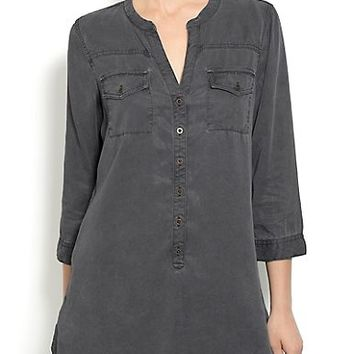 Black Tencel Tunic | Lucky Brand