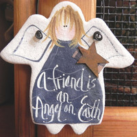 Friends Gift  Salt Dough Angel Ornament