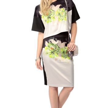 Faux Satin Floral Flow Crop Top @ Cicihot Top Shirt Clothing Online Store: Dress Shirt,Sexy Womens Shirt,T Shirts,Corset Dress,White T Shirt,Girl T Shirt,Short sleeve top