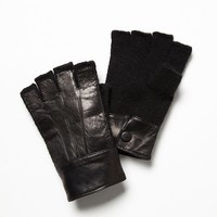 Free People Albany Cashmere and Leather Glove