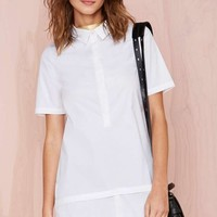 Nasty Gal White Lies Shirtdress