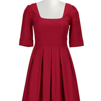 Poplin fit-and-flare retro frock